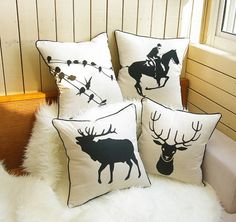 Black and white fluid sofa cushion american fashion kaozhen rustic fluid set fabric pillow