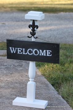Sign Holders For Porch On Pinterest Welcome Signs Wreaths And Wood Creations