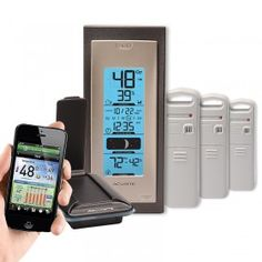 Environment System with Temperature and Humidity 923ES | This AcuRite Environment System includes an AcuLink Internet Bridge, a wireless thermometer display, and three (3) indoor or outdoor Temperature and Humidity Sensors.