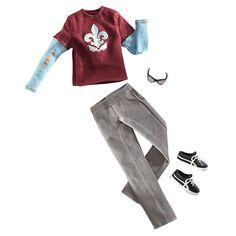 Barbie Fashion Clothing for Ken - Layered Top with Khaki Pants Fashion  - Mattel 1001134 -  Doll Clothing - FAO Schwarz®