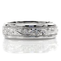 North Shore Hand Engraved Scroll - Knox Jewelers - Minneapolis Minnesota - New Wedding Bands - Large Image