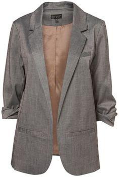 Grey Draped Boyfriend Blazer - Jackets & Coats - Clothing - Topshop USA - StyleSays
