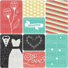 FREE Wedded Bliss Free Journal Cards from Freescrapbookdownloads
