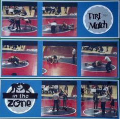 First Match Wrestling Layout - Scrapbook.com
