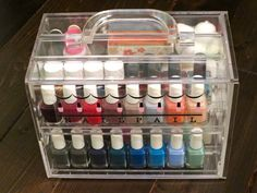 Nail polish organizer. www.nailpail.com This case is amazing! Beautifully stores all your nail polish. Make color selection an ease. LOVE! $69.99