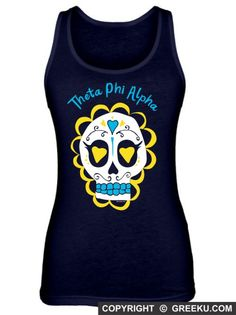 Theta Phi Alpha Candy Skull Poly-Cotton Unisex Tank Top