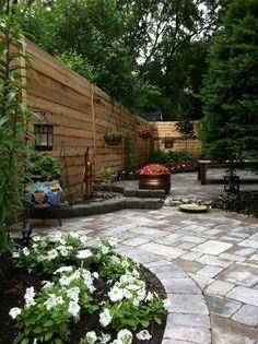 Narrow backyard ideas on pinterest backyard fences for Long narrow backyard design ideas