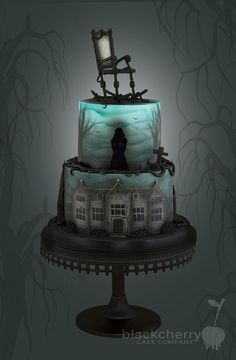 The Woman in Black Cake | by Little Cherry Cake Company