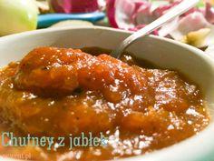 Chutney z jabłek z dodatkiem imbiru, czosnku i rodzynek
