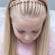 A neat & clear line braid tutorial! A neat & clear line braid tutorial! Box Braids Hairstyles, Cool Hairstyles, Cute Hairstyles For Kids, Updo Hairstyle, Curly Hair Styles, Natural Hair Styles, Hair Upstyles, Little Girl Hairstyles, Hair Videos