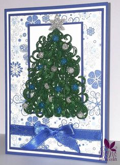 Greeting card quilling  Christmas tree