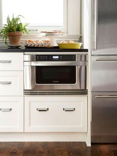 How to Make Your Microwave Blend Seamlessly into Your Kitchen: Keep the Microwave Down Low