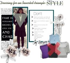 """""""dressing for an inverted triangle"""" by stacyapark on Polyvore"""