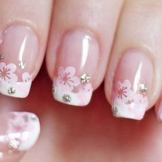 "3 Likes, 1 Comments - Konad Stamping Nail Art (@konadmalaysia) on Instagram: ""Cherry blossom french manicure! Achieve this simple yet sweet looking nails with image plate m31.…"""