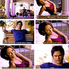 The Vampire Diaries Bonnie & Damon xD Vampire Diaries Damon, Vampire Daries, Vampire Diaries Seasons, Vampire Diaries Quotes, Vampire Diaries The Originals, Paul Wesley, Damon Salvatore, Ian Somerhalder, Nina Dobrev