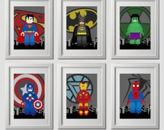 superhero wall art superhero bedroom decor by AmysDesignShoppe