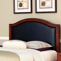 Handsome and distinguished, the Home Styles Duet Camelback Upholstered Headboard is a stylish treat for a grown-up bedroom ensemble. Antique Headboard, Black Headboard, Full Headboard, Leather Headboard, Queen Headboard, Panel Headboard, Upholstered Headboards, Headboard Ideas, Bedroom Furniture Stores