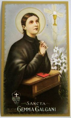 Saint of the day – April 11 – St Gemma Galgani  Gemma Galgani was born on March 12, 1878, in a small Italian town near Lucca. At a very young age, Gemma developed a love for prayer. She made her First .......click to read on A Yearbook of Saints | DEVOTIO