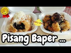 Banana Snacks, Banana Recipes, Diy Ice Cream, Nasi Goreng, Yummy Food, Tasty, Brownie Cake, Indonesian Food, Street Food