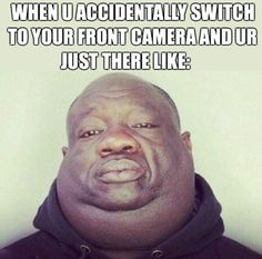 When you switch to your front camera…