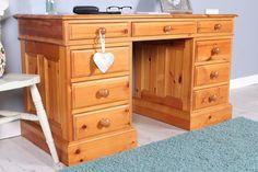 SOLD PINE PEDESTAL DESK Pedestal Desk, Pine Furniture, Corner Desk, Top, Home Decor, Corner Table, Decoration Home, Room Decor, Home Interior Design