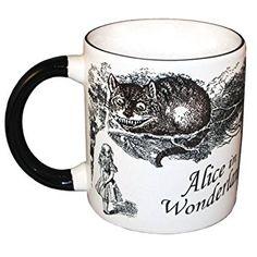 Taza térmica en la q desaparece el gato de Cheshire - Alicia en el País de las Maravillas