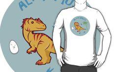 Cute Alioramus T-shirts & Hoodies #alioramus #dinosaurs #tyrannosaur #jurassic #yellow
