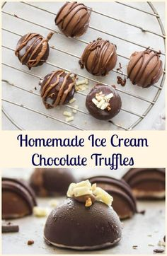 Homemade Ice Cream Chocolate Truffles, an easy decadent Summer Dessert recipe. Use your favorite ice cream and chocolate. Delicious.  via /https/://it.pinterest.com/Italianinkitchn/