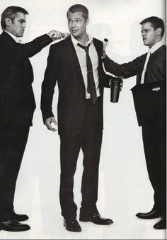 Clooney, Pitt & Damon. Yes please.