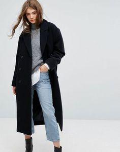 Weekday - Press Collection - Manteau en laine avec détail épaules