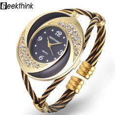 Mode Strass Diamant Tourbillon Conception Armure En Acier Robe Montre-Bracelet Femme Fille Dames Bracelet Bracelet À Quartz montre