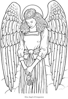 Angel Coloring Pages for Adults   Best coloring books