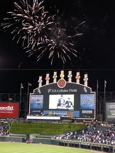 Fireworks at U.S. Cellular Field...best part of my summer...my 23rd bday weekend