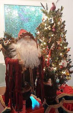 OOAK OLD WORLD Woodland Santa Claus Figurine / Father Christmas HAND MADE