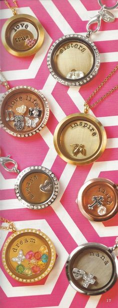 Origami Owl lockets. So many designs you can make... http://dreambig.origamiowl.com/