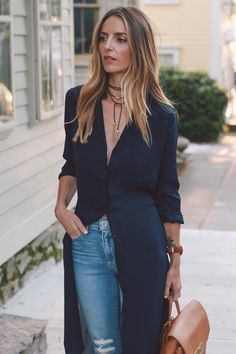 Leather Wrap Choker Necklace Navy Trench Prosecco & Plaid