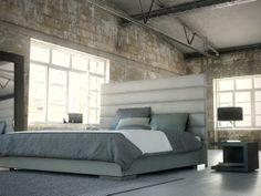 Prince Panel Bed Frame by Modloft at Gilt Upholstered Panels, Cal King Bedding, Modern Bedroom Design, Upholstered Panel Bed, Bedroom Furniture, Bed, Modern Bedroom, Princes Bed, Bed Plans