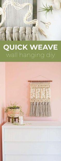 Quick Weave Wall Hanging DIY – A Beautiful Mess