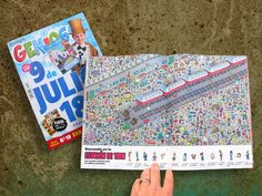 Ilustrador Alexiev Gandman: Buscando en la estación del tren - Revista Genios del 9 de Julio...