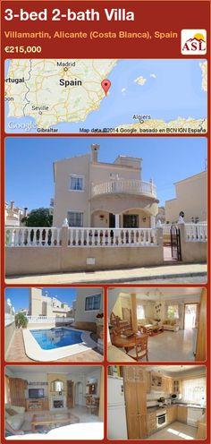 3-bed 2-bath Villa in Villamartin, Alicante (Costa Blanca), Spain ►€215,000 #PropertyForSaleInSpain