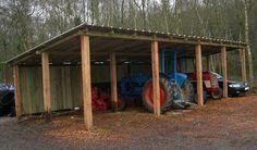 Firewood Shed Plans Diy Pole Barn, Pole Barn Plans, Building A Pole Barn, Shed Building Plans, Pole Barn Homes, Shed Plans, Pole Barns, Carport Sheds, Barns Sheds