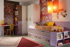 Catálogo Aire avatar 06 . Dormitorio juvenil con compacto de dos camas y dos cajones
