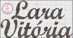 Resultado de imagem para nome lara em ponto cruz