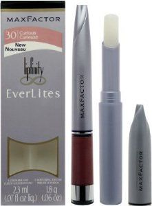 Max Factor Lipfinity Everlites ( Color Base & Moisturizing Top Coat ) 30 Curious by Max Factor. $3.00. Lipfinity Everlites, an advanced lightweight all-day lipcolor. Your lips will feel as good as they look for up to 10 hours - even after eating and drinking.. First apply the base coat for lightweight lasting color. Then, glide on the top coat for moisture and a glossy sheen any time you want. For lip color that's ever so soft, ever so light, and ever so long lasting, t...
