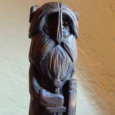 VikingRunesPower shared a new photo on Etsy - Modern Wooden Statues, Wooden Figurines, Wooden Art, Wooden Decor, Tree Sculpture, Modern Sculpture, Sculpture Garden, Sculpture Ideas, Tree Carving