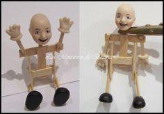 Pinocchio 1/12ème( porcelaine et bois) Avant d'être habillé!