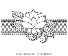 Draw Flower Patterns Mehndi flower pattern for Henna drawing and tattoo. Decoration in ethnic oriental, Indian style. Flower Embroidery Designs, Embroidery Art, Embroidery Patterns, Henna Drawings, Zentangle Drawings, Henna Patterns, Flower Patterns, Flower Pattern Drawing, Drawing Flowers