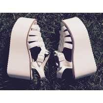 15e70bf8 Sandalias Estilo Franciscanas Altas Plataforma Mujer Zapatos Zapatos  Blancos Plataforma, Zapatos Mujer Plataforma, Tacones