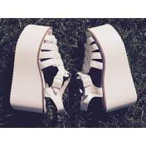 Sandalias Estilo Franciscanas Altas Plataforma Mujer Zapatos