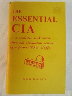 Vintage c. 1975 Very RARE book.  Essential CIA.  by BuyfromGroovy